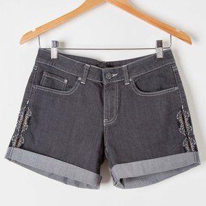 Prana Kara Embroidered Denim Shorts